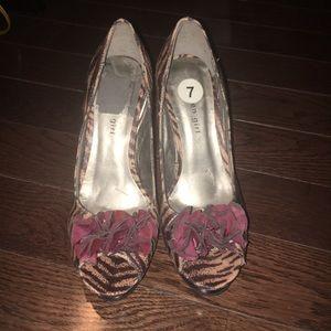 Madden Girl Shoes - Madden Girl Animal Print Open Toe Heels
